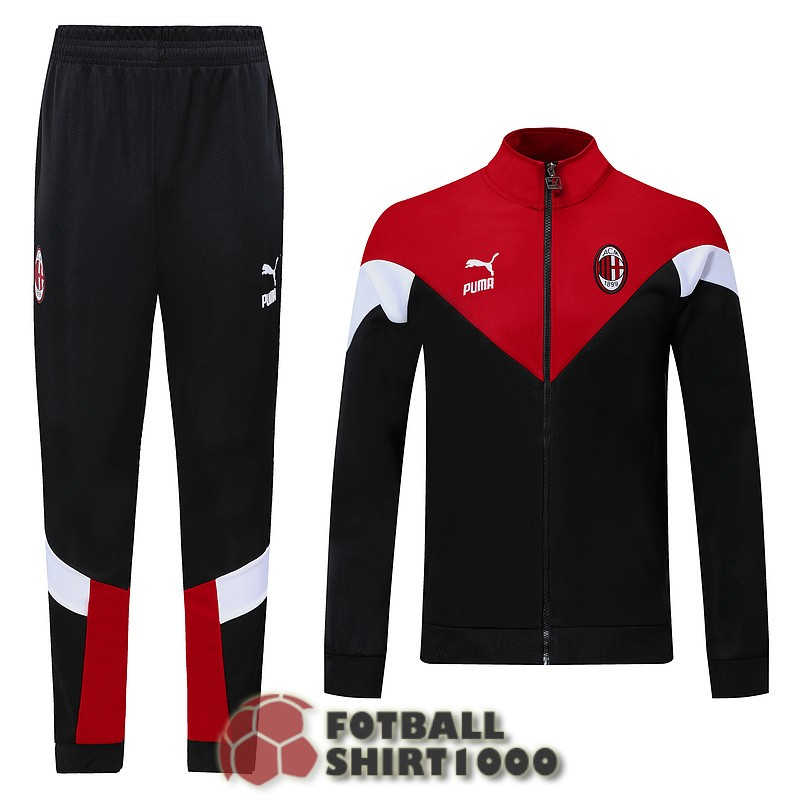 ac milan jacket 2019 2020 black red white