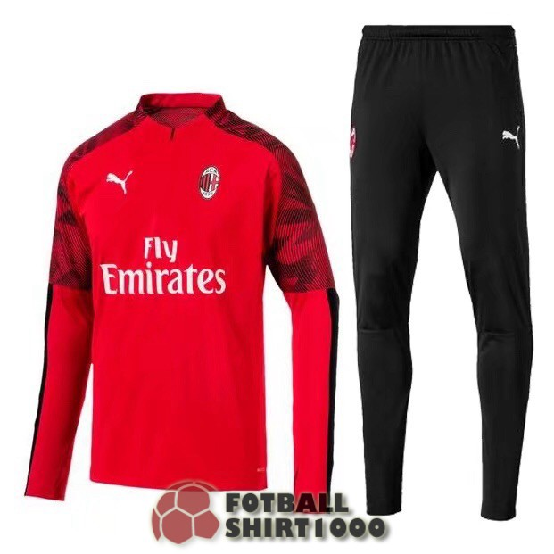 ac milan tracksuit 2019 2020 zipper red