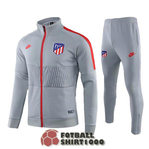 atletico madrid jacket 2019 2020 gray red