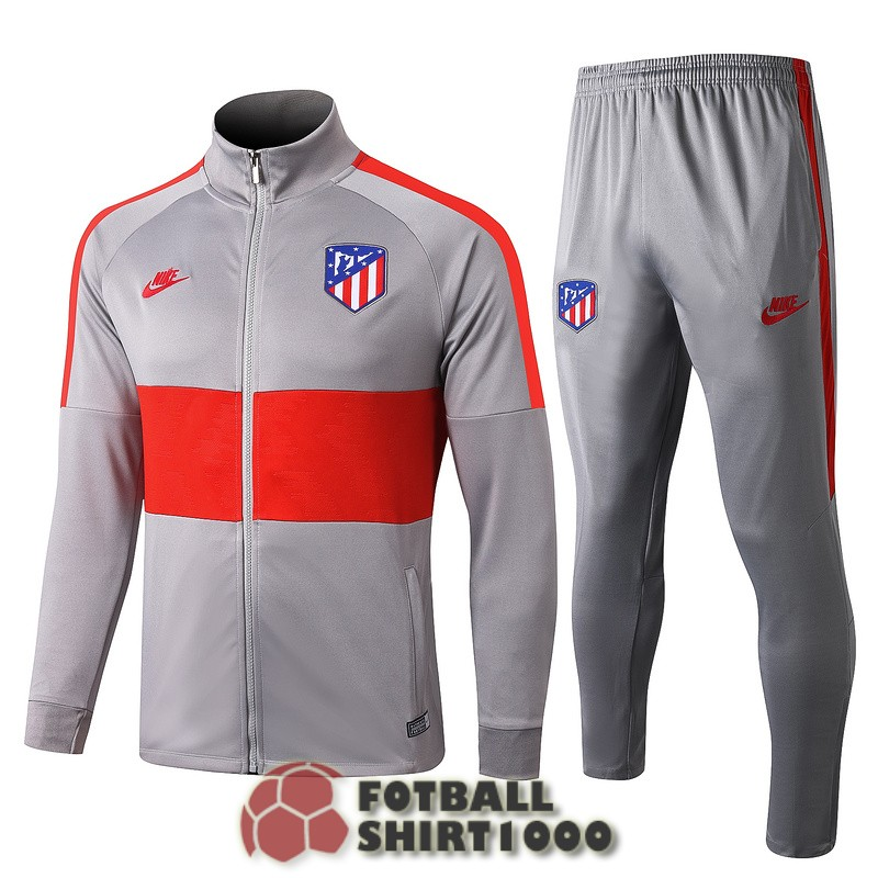 atletico madrid jacket 2019 2020 light gray red