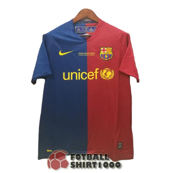 barcelona retro champions shirt jersey 2008 2009 blue red