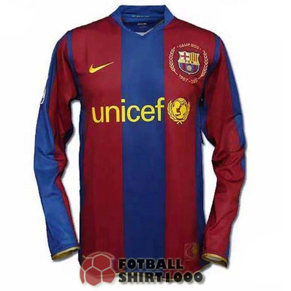 barcelona retro long sleeve shirt jersey 50 anniversary edition red blue