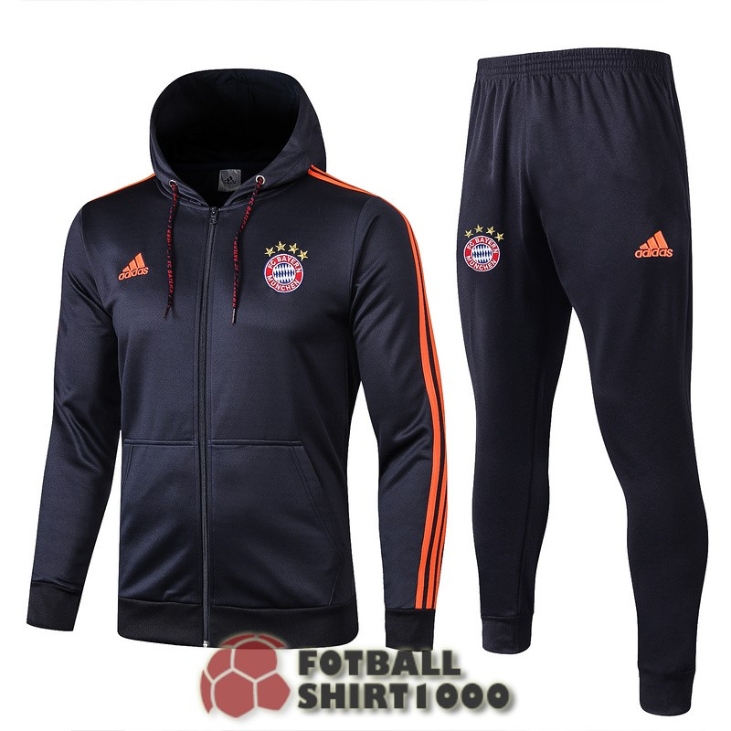 bayern munich hooded jacket 2019 2020 blue