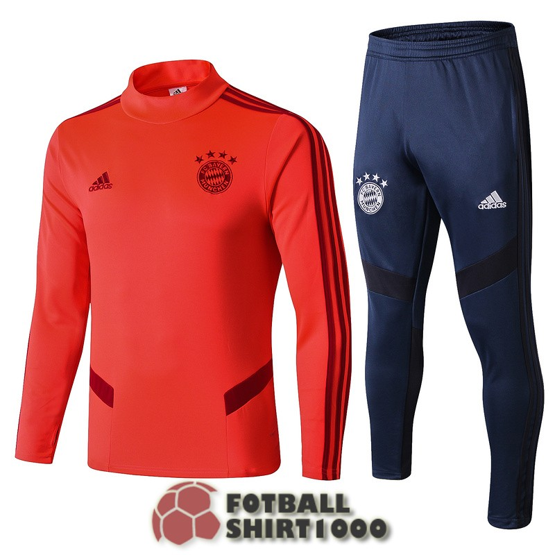 bayern munich tracksuit 2019 2020 high collar orange