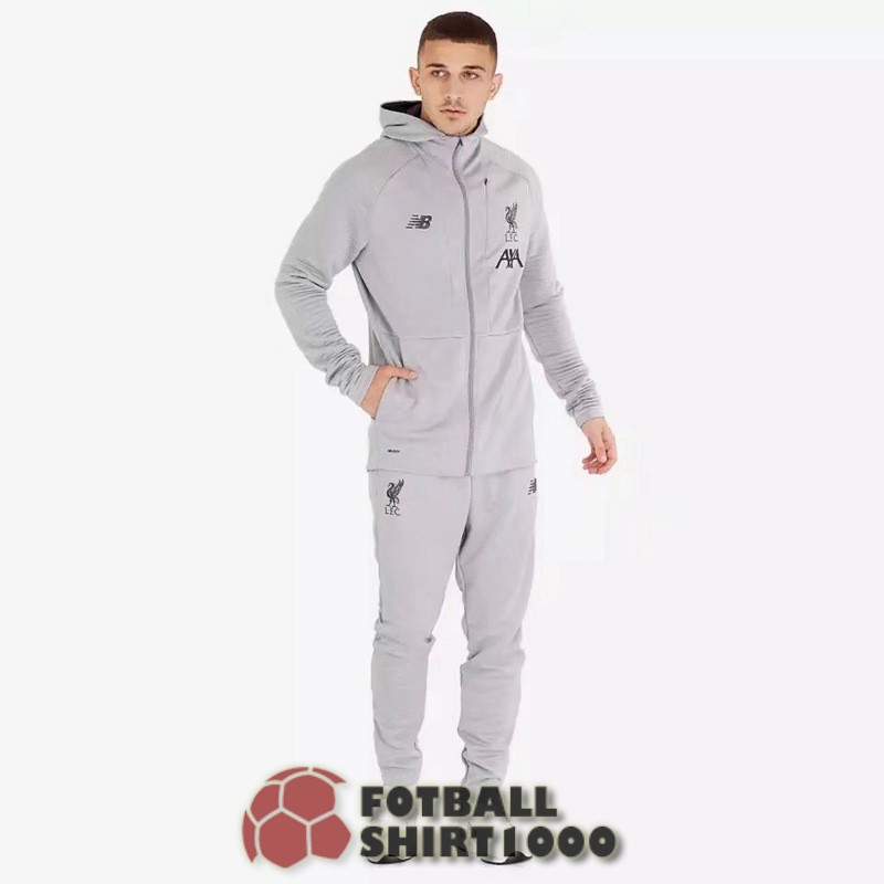 liverpool hooded jacket 2019 2020 gray