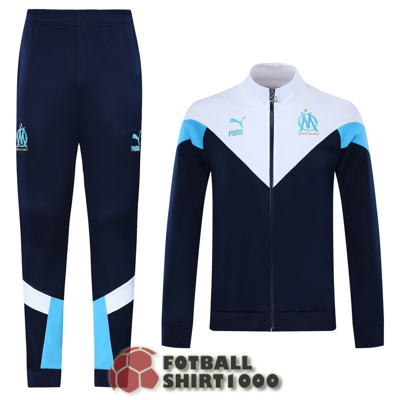 marseille jacket 2019 2020 dark blue white