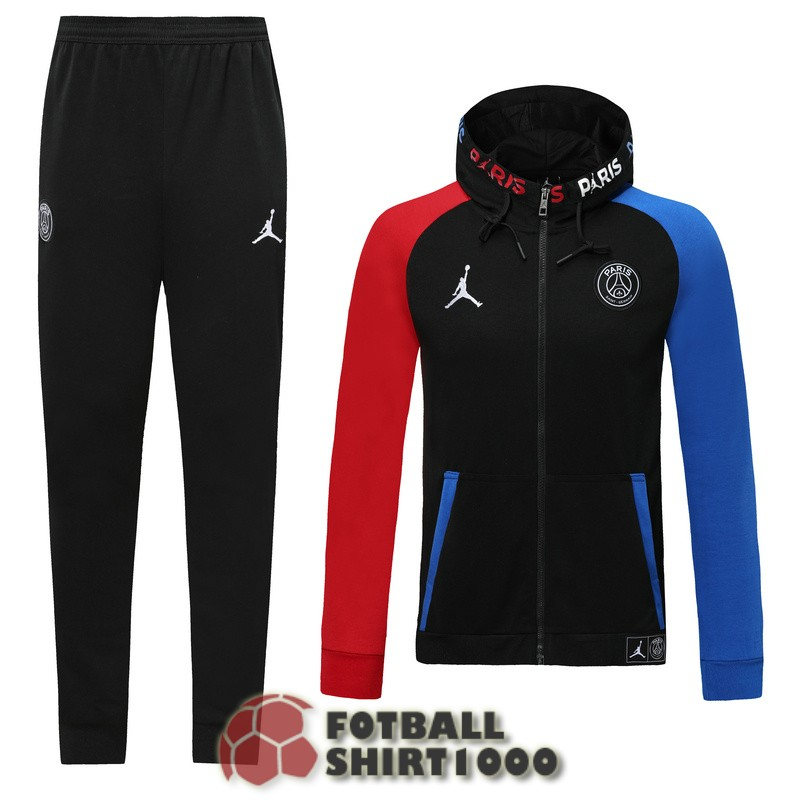 psg hooded jacket 2019 2020 red blue black