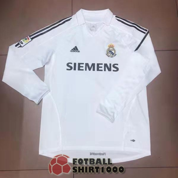 real madrid retro long sleeve shirt jersey 2006 home