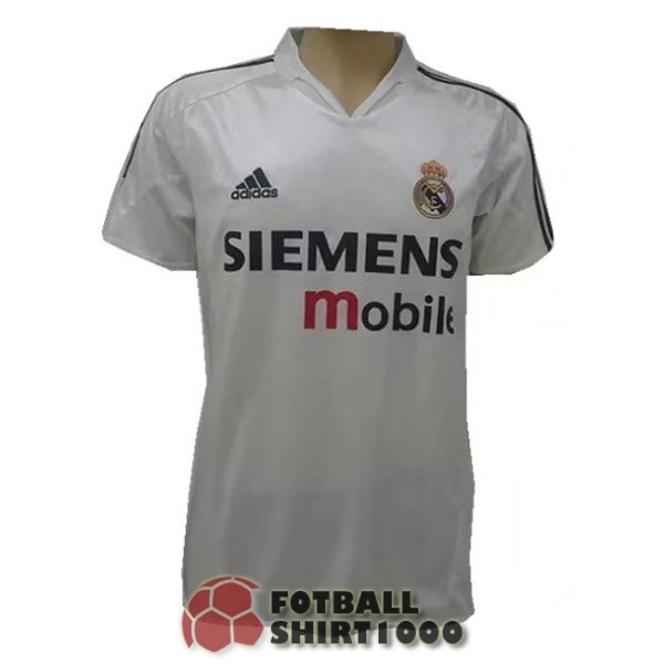 real madrid retro shirt jersey 2004 home