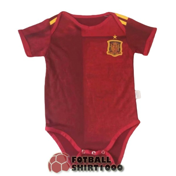 spain baby shirt jersey 2020 red