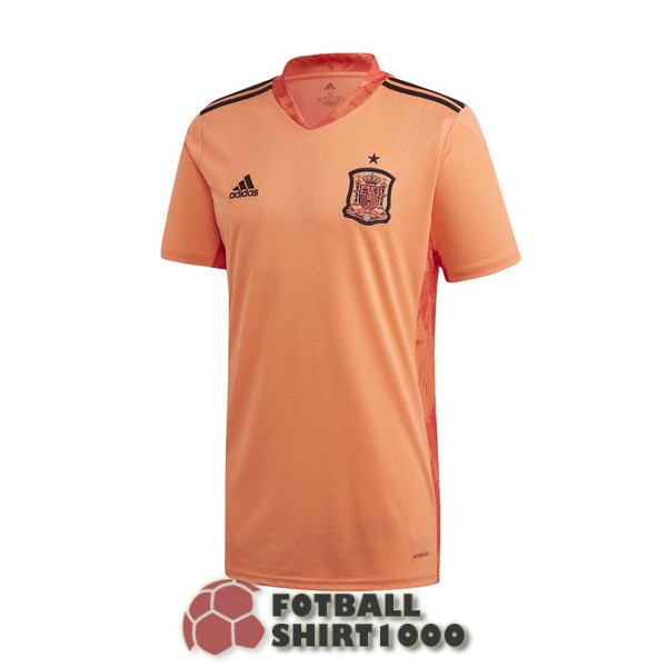 spain goalkeeper shirt jersey 2020 orange